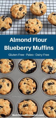 Almond Flour Blueberry Muffins Recipe, Almond Flour Recipes, Blue Berry Muffins, Almond Flour Cakes, Baking With Almond Flour, Cranberry Muffins, Mini Muffins, Coconut Flour, Muffin Recipes