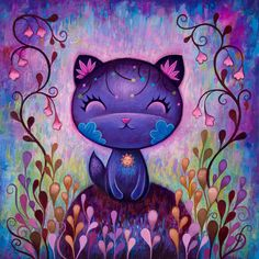 Jeremiah Ketner: Flower Kitty - Fine Art Print, Signed
