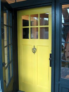 Wonderful-Front-Door-Colors-Yellow-Color-Design-Black-Windows.jpg 616×821 pixels