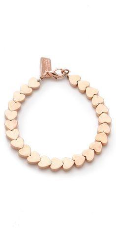I LOVE this Rose Gold Heart Bracelet! #MallyTrends