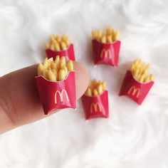 Mini Craft, Mini Things, Potato Chips, French Fries, Miniature Food, Party Favors, Polymer Clay, Bubbles, Potatoes