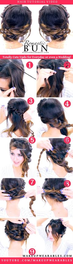 Cute Braided Updo Hairstyle | Wedding Prom Evereyday