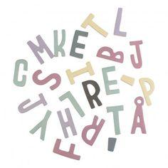 Sebra Set de lettres magnétiques en bois fille-listing
