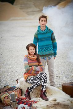 Lana Grossa PULLOVER Medio + Superbingo - FILATI Kids & Teens No. 4 - Modell 61 links | FILATI.cc WebShop