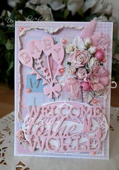 Baby Card in Pink ...