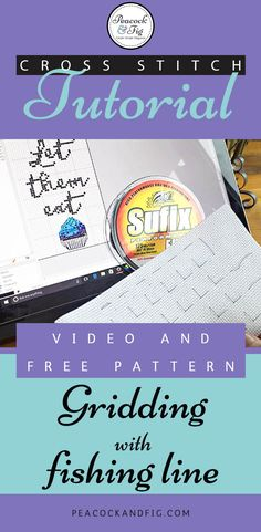 Gridding is such a great way to help minimize mistakes in cross stitch projects, and this video tutorial shows how to grid using nylon thread (fishing line). And there's a free cross stitch pattern available too! Cross Stitch Thread, Cross Stitch Fabric, Cross Stitch Love, Beaded Cross Stitch, Cross Stitch Kits, Cross Stitching, Cross Stitch Embroidery, Hand Embroidery, Cross Stitch Tutorial