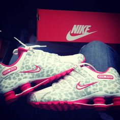 f36ec0afbbc0 Pink and grey leopard nike shox nike running leopard shoes
