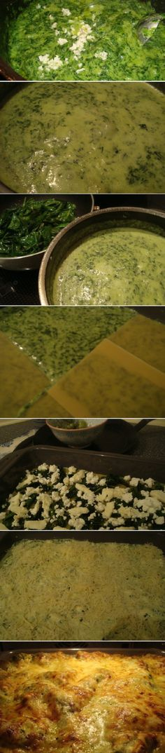 Spinach Feta Lasagna Recipe Old Recipes, Pizza Recipes, Lunch Recipes, Lacto Vegetarian Recipe, Vegetarian Cooking, Meat And Potatoes Recipes, Pasta Dishes, Rice Dishes, Stuffed Poblano Peppers
