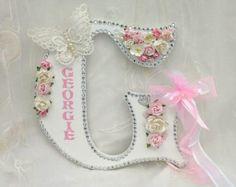 Large letter for girls nursery free standing letter name by Aligri