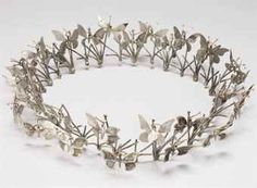 Merry Renk Butterfly Tree Crown in silver and gold. (Christie's)