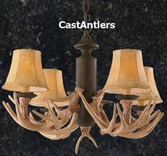 Antler Chandelier 4 Light Reproduction