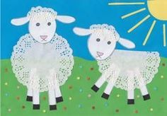 Lace for sheep! Why not! Adorable spring lamb craft for the kids to make!, Lace for sheep! Why not! Adorable spring lamb craft for the kids to make! Just add a doily! Spring Crafts For Kids, Diy For Kids, Craft Kids, Easter Art, Easter Crafts, Preschool Crafts, Fun Crafts, Lamb Craft, Spring Lambs