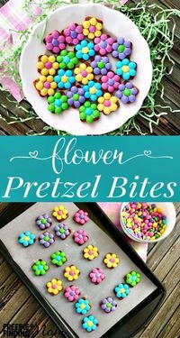Pretzel Snack Recipe Idea: Flower Pretzel Bites