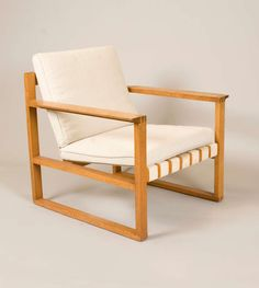 Rare & Early Borge Mogensen Easy Chair   From a unique collection of antique and modern armchairs at http://www.1stdibs.com/furniture/seating/armchairs/