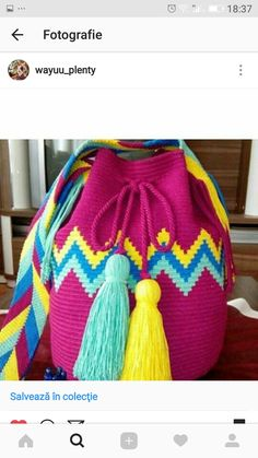 This Pin was discovered by Nez Tapestry Crochet, Tapestry Bag, Crochet Home, Knit Crochet, Mochila Crochet, Knit Vest Pattern, Fabric Purses, Lace Gloves, Paintbox Yarn