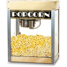Thos. Baker Cinerama Popcorn Maker (W/O Base) ($439) ❤ liked on Polyvore featuring home, kitchen & dining, small appliances, food, fillers, decor, food and drink, air popcorn popper, movie popcorn popper and popcorn machine