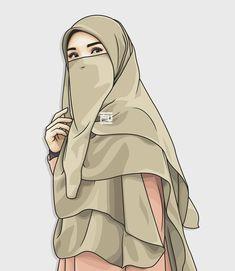 hijab vector in 2019 anime muslimah, hijab drawi Hijab Drawing, Art Tumblr, Muslim Hijab, Hijab Niqab, Islamic Cartoon, Hijab Cartoon, Islamic Girl, Muslim Girls, Beautiful Hijab