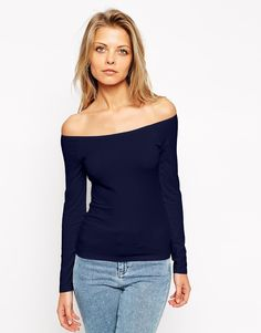 ASOS The Off Shoulder Top With Long Sleeves
