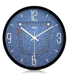 oooo... diy clock with denim.  Love it!