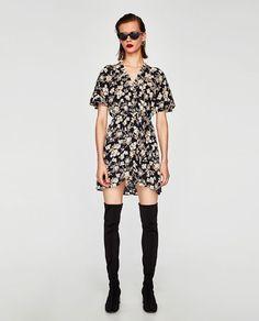 ZARA - WOMAN - FLORAL PRINT CROSSED DRESS