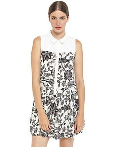 YA LOS ANGELES Floral Print Sleeveless Dress