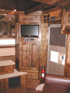 Idea For The Little Space Between Door And Bed Wall. Find This Pin And More  On Living Quarters Horse Trailer ...