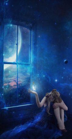 A noite ascendeu as estrelas, porque tinha medo da própria escuridão... (Mario Quintana)