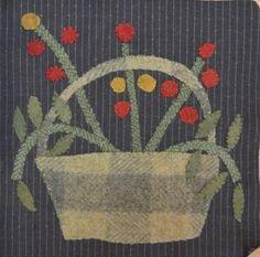 Linen Closet Quilts: Little Wooly Baskets Blocks 1 and 2