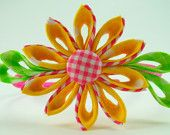 Items similar to Kanzashi flower and butterfly boutique hair clip PDF tutorial on Etsy. , via Etsy.