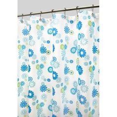 Watershed Starburst Floral Shower Curtain in Azure