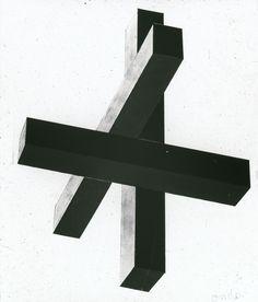 Afbeelding van tentoonstelling De Stijl SMA, 1951, cartesiaanse knoop, van onderen