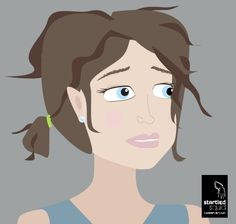 Vector illustration - girl with messy hair. - by Startled Squid Design Group www.startledsquid.com Illustration Girl, Graphic Design Illustration, Messy Hairstyles, Portfolio Design, Group, Gallery, Fictional Characters, Image, Art
