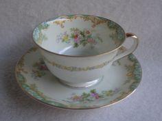 Vintage Noritake Jasmine Cup and Saucer. $23.50, via Etsy.