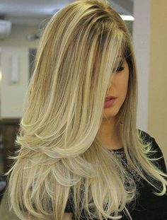 Long+Blonde+Ombre+Blowout+Hairstyle