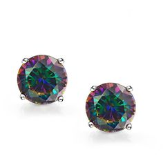 Bling Jewelry Kleidoscope Studs (23 AUD) ❤ liked on Polyvore featuring jewelry, earrings, multicolor, stud-earrings, rainbow jewelry, stud earring set, round earrings, round stud earrings and multicolor earrings