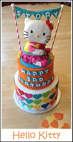 How to make a Hello Kitty Cake