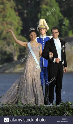 Princess Madeleine of Sweden, Christopher O'Neill and guests arrive for their wedding banquet, hosted by King Carl Gustaf XIV and Queen Silvia at Drottningholm Palace Featuring: Crown Princess Victoria of Sweden,Prince Daniel Where: Drottningholm, Sweden Stock Photo