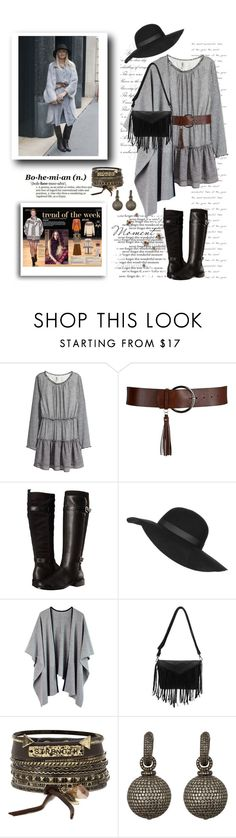 """""""Boho Winter"""" by terry-tlc ❤ liked on Polyvore featuring H&M, Aerosoles, Topshop, BKE, MUNNU The Gem Palace, women's clothing, women's fashion, women, female and woman"""
