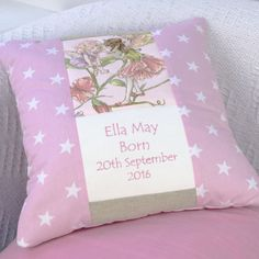 Flower Fairy© Celebration Cushion Little Girl Gifts, Little Girls, Hand Embroidery, Machine Embroidery, Baby Patchwork Quilt, Craft Making, Baby Ideas, Bobs, Crafts To Make