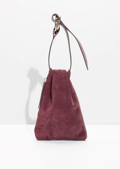 NEED Suede Clutch With Large Hoops