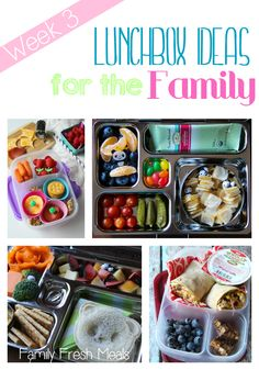 Easy Lunchbox Ideas for the Family -  The heck with the kids,  I would totally eat these too!!