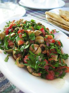 Breakfast in Hatay / Hatayda – Dinner Recipes No Dairy Recipes, Cooking Recipes, Good Food, Yummy Food, Appetizer Salads, Vegetarian Appetizers, Middle Eastern Recipes, Turkish Recipes, Mediterranean Recipes