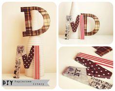 It's so easy DIY blog: DIY - Jak zrobić dekoracyjne litery