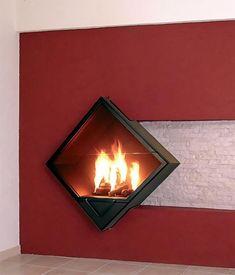 Foc Design Black Wall Mounted Fireplace   Fireplace: Rectangular ...