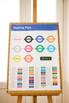 London underground wedding seating plan. http://www.brittspring.com/