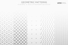Geometric Patterns by Unio | Creative Solutions on @creativemarket