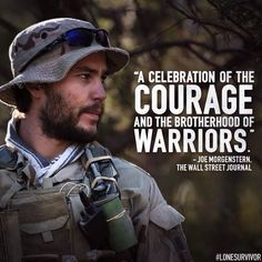 Joe Morgenstern of The Wall Street Journal says celebrates the courage of these warriors. See their story TOMORROW. Movies Showing, Movies And Tv Shows, Marcus Luttrell, My Marine, Marine Corps, Lone Survivor, Taylor Kitsch, See Movie, Navy Seals