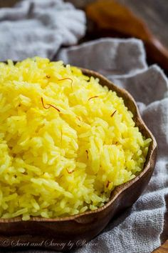 Incredibly fluffy and aromatic saffron rice is a perfect compliment to any dish. I'm sharing lots of tips on how to make saffron rice perfect every time.
