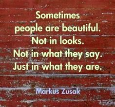 """Beautiful quote from """"I am the messenger"""" by Markus Zusak--- a very Christian message. see God in everyone"""