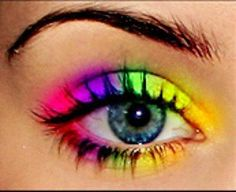 Bright Colorful Eye Shadow